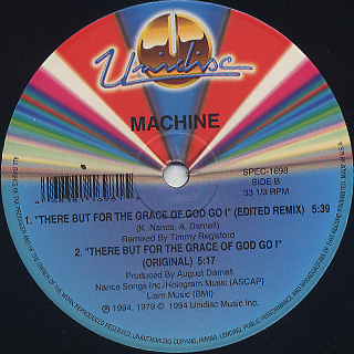 Machine / There But For The Grace Of God Go I label