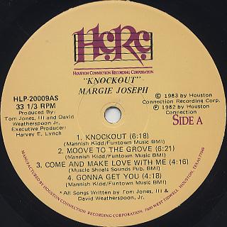 Margie Joseph / Knockout! label
