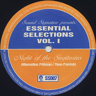Marsellus Pittman / Theo Parrish / Essential Selections Vol.1