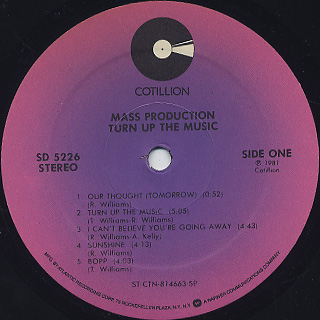 Mass Production / Turn Up The Music label