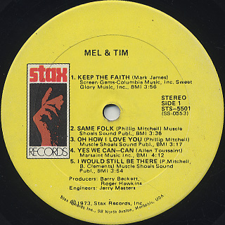 Mel And Tim / S.T. label