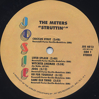 Meters / Struttin' label