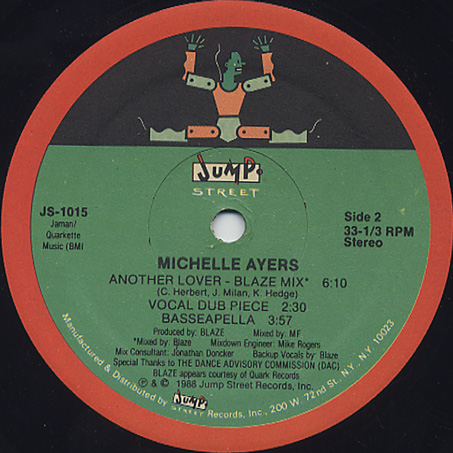 Michelle Ayers / Another Lover label