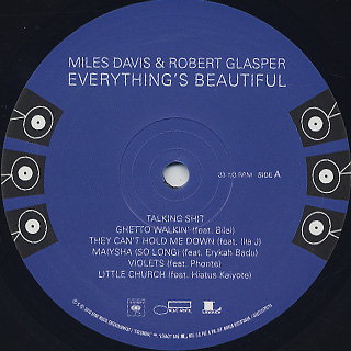 Miles Davis & Robert Glasper / Everything's Beautiful label