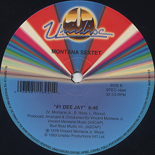 Montana Orchestra / Heavy Vibes c/w #1 Dee Jay label