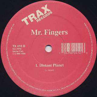Mr. Fingers / Can You Feel It c/w Distant Planet back