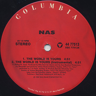 Nas / The World Is Yours label