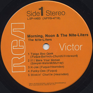 Nite-Liters / Morning Noon & The Nite-Liters label