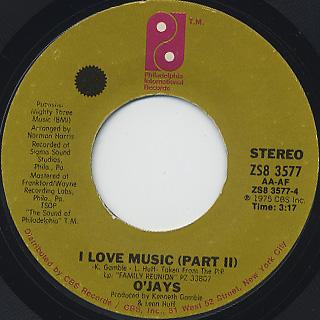 O'Jays / I Love Music back