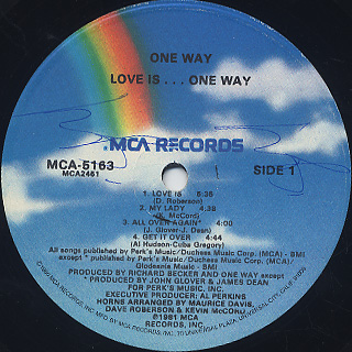 One Way / Love Is... label