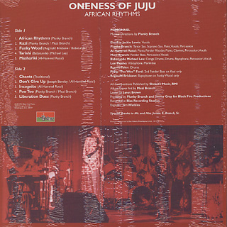 Oneness Of Ju Ju / African Rhythms back