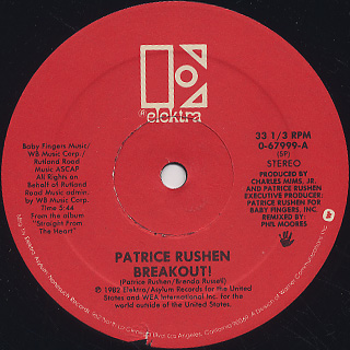 Patrice Rushen / Breakout! c/w Number One(Instrumental) back
