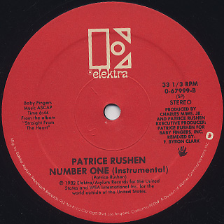 Patrice Rushen / Breakout! c/w Number One(Instrumental) label