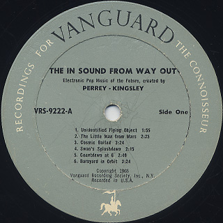 Perrey - Kingsley / The In Sound From Way Out! label