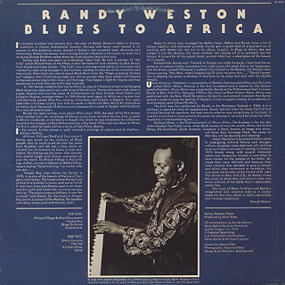 Randy Weston / Blues To Africa back