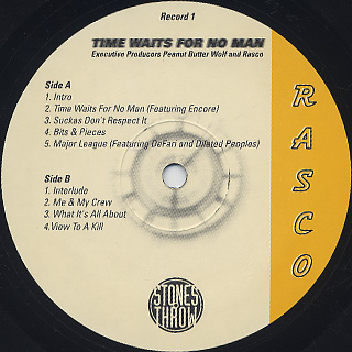 Rasco / Time Waits For No Man label