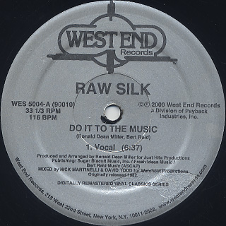 Raw Silk / Do It To The Music (Remastered) back