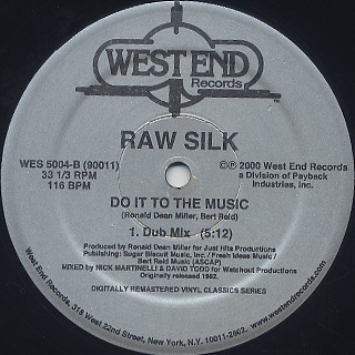 Raw Silk / Do It To The Music (Remastered) label