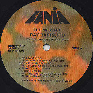 Ray Barretto / The Message label