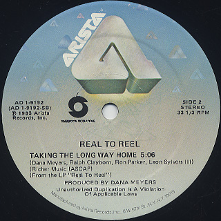 Real To Reel / Love Me Like This c/w Taking The Long Way Home label
