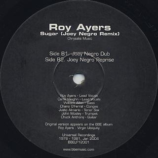 Roy Ayers / Sugar (Joey Negro Remix) label