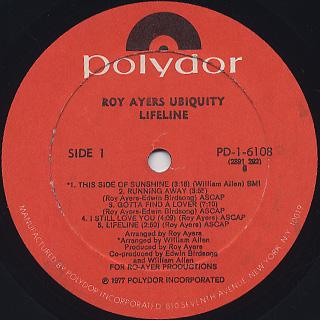 Roy Ayers Ubiquity / Lifeline label