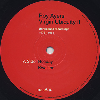 Roy Ayers / Virgin Ubiquity II(Unreleased Recordings 1976-1981) label
