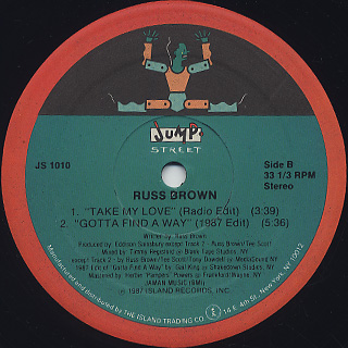 Russ Brown / Take My Love label