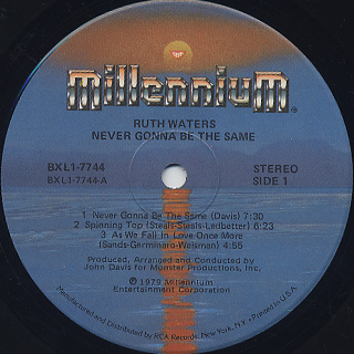Ruth Waters / Never Gonna Be The Same label