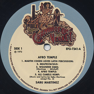 Sabu Martinez / Afro Temple label