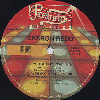 Sharon Redd / Love How You Feel c/w You Got My Love label