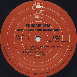 Shuggie Otis / Inspiration Information label