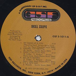 Skull Snaps / S.T. label