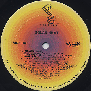 Solar Heat / S.T. label