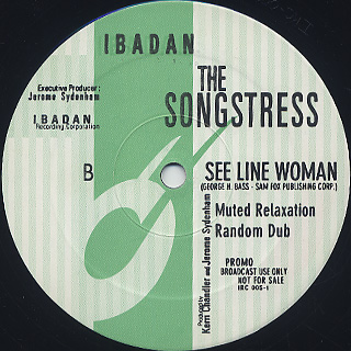 Songstress / See Line Woman back