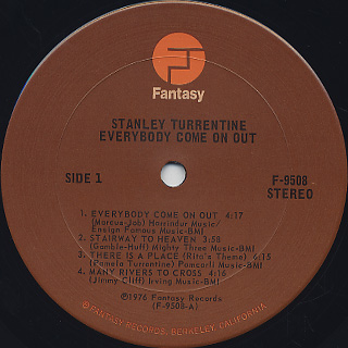 Stanley Turrentine Everybody Come On Out Vinyl Stanley