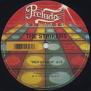 Strikers / Inch By Inch c/w Body Music back