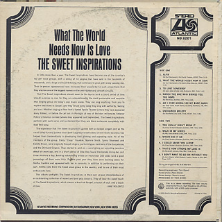 Sweet Inspirations / What The World Needs Now Is Love back