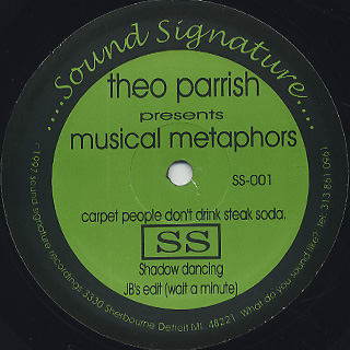 Theo Parrish / Musical Metaphors front