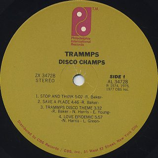 Trammps / Disco Champs label