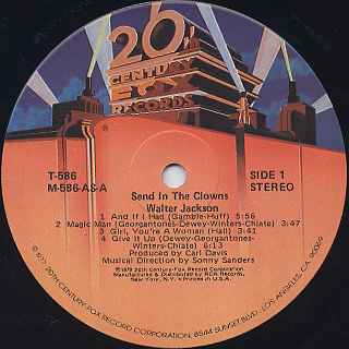 Walter Jackson / Send In The Clowns label