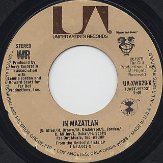 War / Why Can't We Be Friends? c/w In Mazatlan back