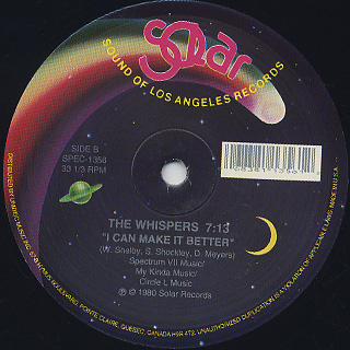 Whispers / And The Beat Goes On label
