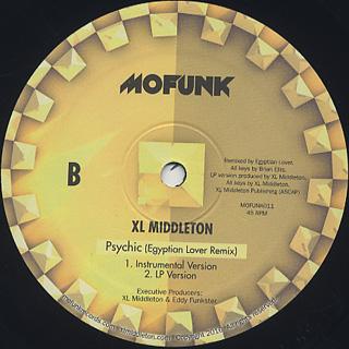 XL Middleton / Psychic (Egyptian Lover Remix) back