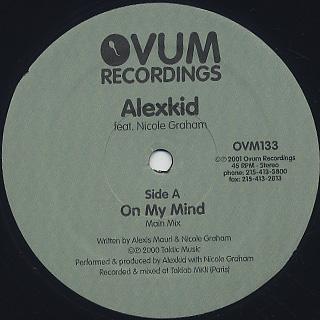 Alexkid Feat. Nicole Graham / On My Mind back