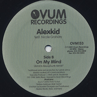 Alexkid Feat. Nicole Graham / On My Mind label