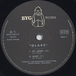 Archie Shepp / Blase label