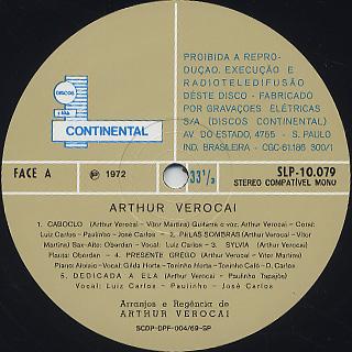 Arthur Verocai / S.T. (LP) label