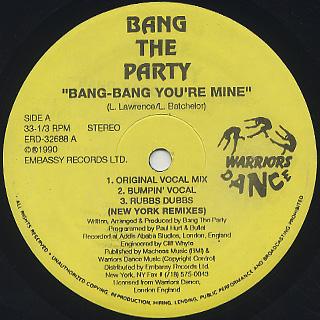 Bang The Party / Bang-Bang You're Mine