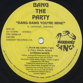 Bang The Party / Bang-Bang You're Mine back